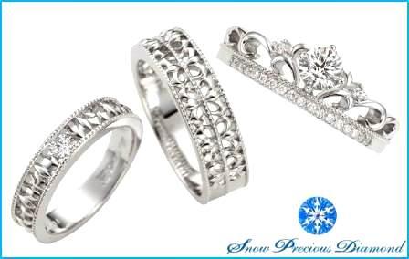雪の結晶を描き出した 「スノープレシャスダイヤモンド」