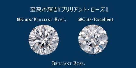 ブリリアントローズ 66面カットのダイヤモンド