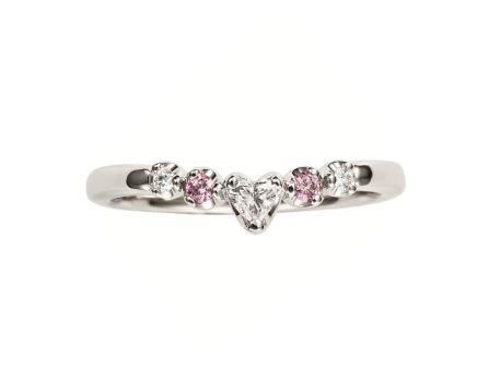 婚約指輪:プチハート RVS4008 (WD・PD) ¥259,200-