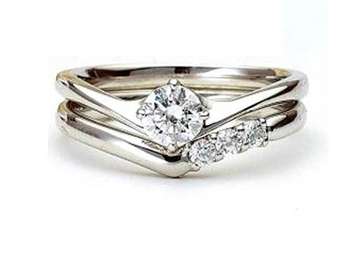 婚約指輪:アイヴェール 上:30455 ER Pt 0.3ct up 枠のみ¥89,250