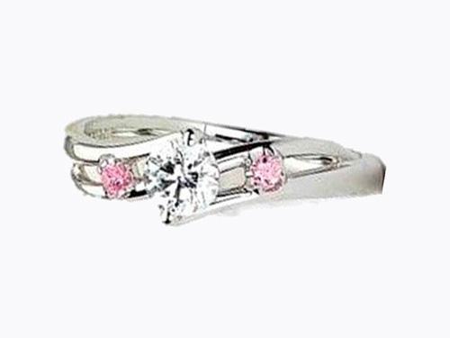 婚約指輪:アイヴェール 30461 WD pt 枠のみ 0.3ct up 1/50×2p¥126,000