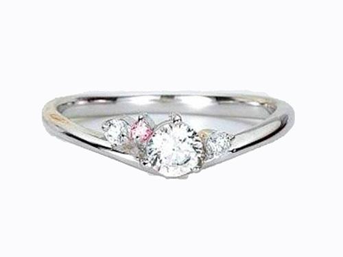 婚約指輪:アイヴェール 30476 Pt WD 1/100 1/50  1/30 枠のみ 0.3ct up ¥115,500