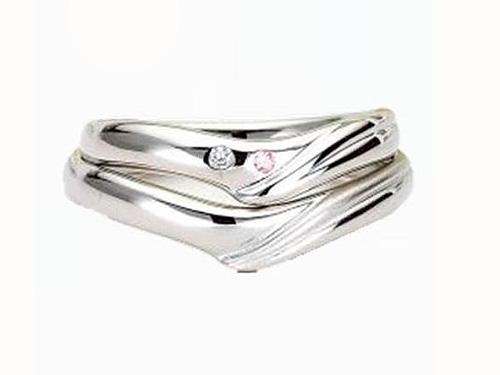 結婚指輪:アイヴェール 上:30478 WDPD WD 1/70 PD 1/100 ¥189,000  下:30478 pt ¥147,000