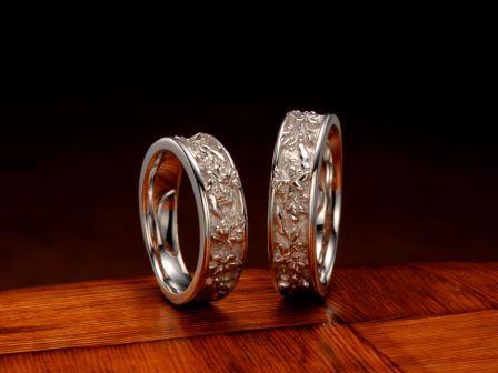 結婚指輪:琉球 でいごの花 Pt900 ¥172,800-