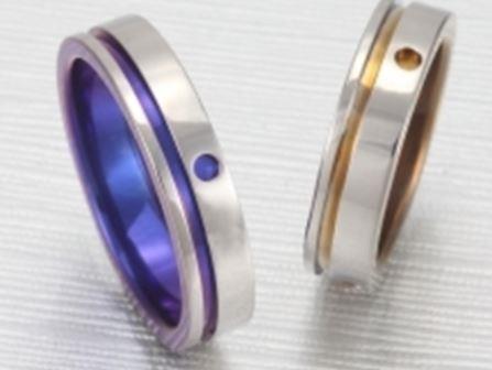 結婚指輪:ティタニオNo.5 (5mm) 表面3ポイント ¥54,500-