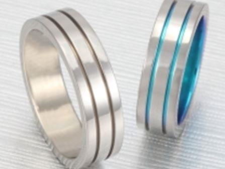 チタン結婚指輪:ティタニオNo.7 (6mm) ¥54,000-