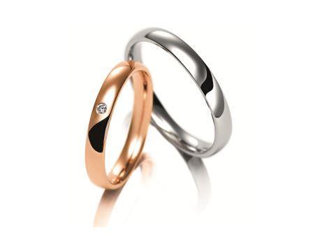 結婚指輪:マイスター クラシックスライン 083 左:Gold750 ¥200,000- 右:Pt950 ¥162,000-