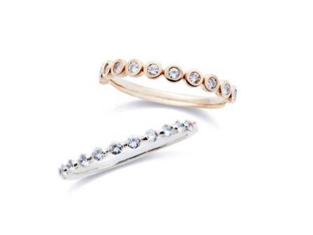 結婚指輪 エタニティー:上:DM-146 K18 ¥97,200- 下:ER-146 Pt900 ¥151,200-