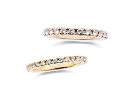 結婚指輪 エタニティー:上:DM-17 K8¥278,640- 下:DM-141 K18¥194,400-
