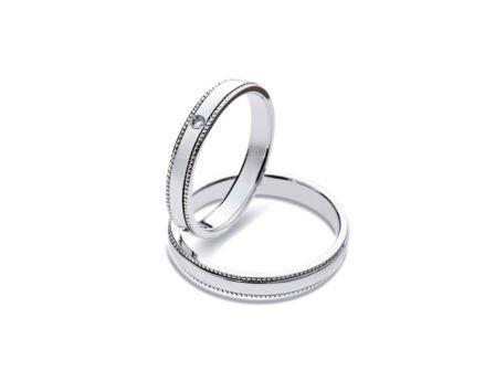 結婚リング:上:DM-45 Pt900 ¥87,480- 下:DM-43 Pt900 ¥84,240-