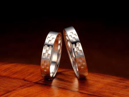 結婚指輪:琉球 いつの世も(平打4mm)Pt900 ¥102,600-