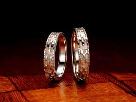結婚指輪:琉球 いつの世も(4.5mm) Pt900 ¥129,600-
