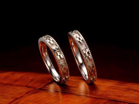 結婚指輪:琉球 いつの世も(3.5mm)Pt900 ¥129,600-