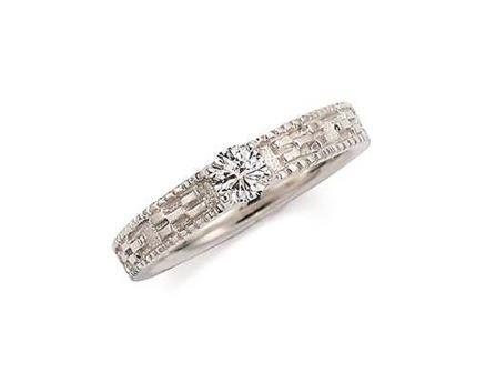 婚約指輪:琉球 いつの世も(3.5mm)リング枠のみ Pt900 ¥129,600-