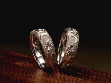 結婚指輪:上弦月光(梅枝)