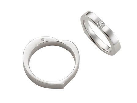 結婚指輪:Affection Snow 〜永遠の愛〜 Pt900  左:¥164,000- 右:¥198,000-