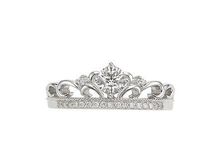 婚約指輪:Royal Snow 〜高貴〜 Pt900 ¥136,000-
