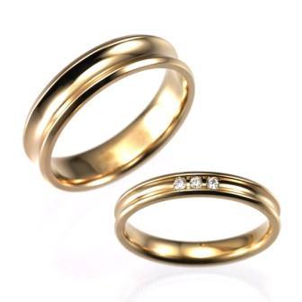 結婚指輪:CYO 524101 コンケーブ5mmポリッシュ(鏡) 522104 コンケーブ3mmポリッシュ(鏡)