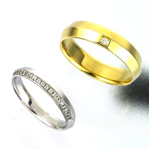 結婚指輪:CYO 111411 ナイフエッジ2.5mmサテン(つや消し) 123403 ナイフエッジ4mmサテン(つや消し)