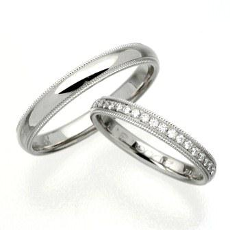 結婚指輪:CYO 412101 ミルグレイン3mm 411111 ミルグレイン2.5mmポリッシュ(鏡)