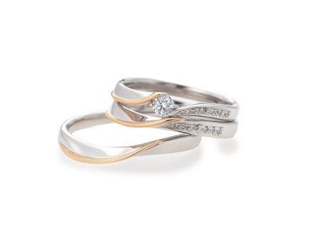 結婚リング: 上:AL21 ¥166,320- 中:AL22 ¥108,000- 下:AL23 ¥110,160
