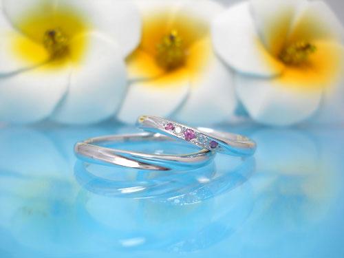 結婚指輪 ちゅらばな かなさん 左:¥60,912- 右:¥65,448-
