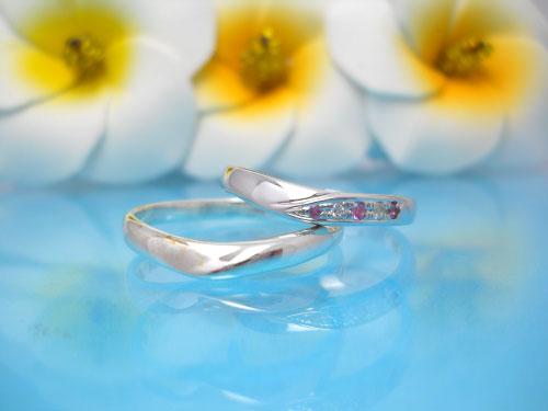 結婚指輪ちゅらばな くるる(心)
