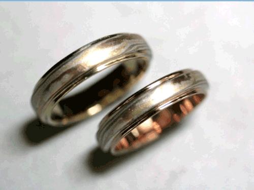 結婚リング:美心1 木目がね フルオーダーメイド