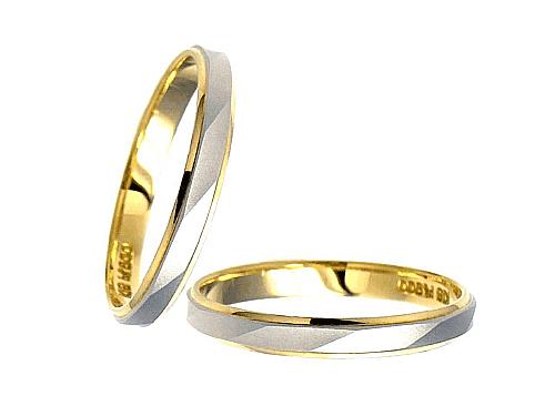 結婚指輪:エトワ B031 Pt900・K18  A:32,400円 B:37,800円 C:42,120円