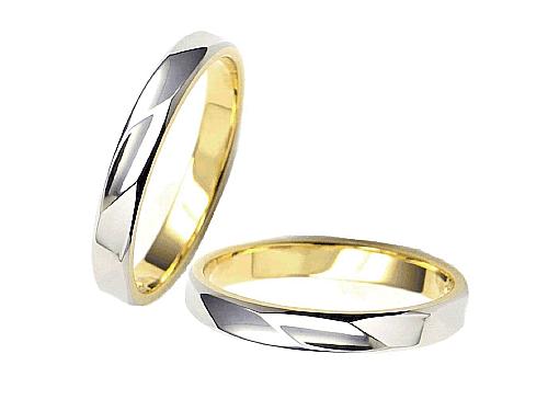 結婚指輪:エトワ B033 Pt900・K18  A:43,200円  B:49,680円  C:56,160円
