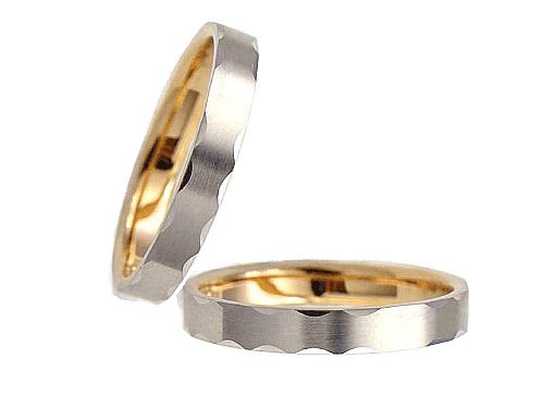 結婚指輪:エトワ C023 Pt950・K18PG  A:41,040円  B:47,520円  C:54,000円