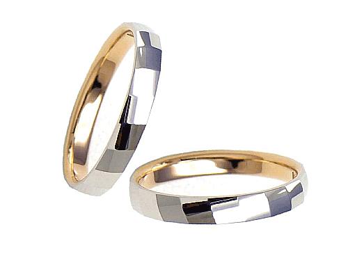 結婚指輪:エトワ C024 Pt950・K18PG  A:41,040円  B:47,520円  C:54,000円