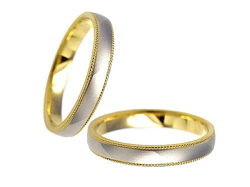 結婚指輪:エトワ C034 Pt900・K18  A:47,520円  B:55,080円  C:62,640円