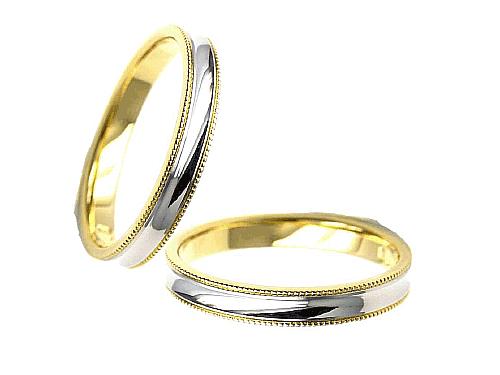 結婚指輪:エトワ C035 Pt900・K18  A:45,360円  B:52,920円  C:59,400円