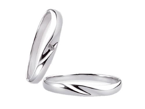 結婚指輪:エトワ 右 K015 Pt900   左 K016 Pt900・ ダイヤモンド  A:49,680円  B:57,240円  C:64,800円