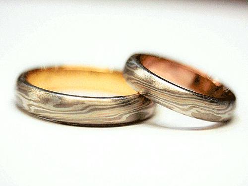 結婚指輪:美心2 木目がね フルオーダーメイド