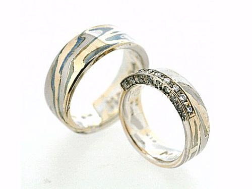 結婚指輪:美心8 木目がね フルオーダーメイド