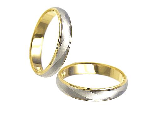 結婚指輪:エトワ PR01 Pt900・K18  A:41,040円  B:47,520円  C:54,000円