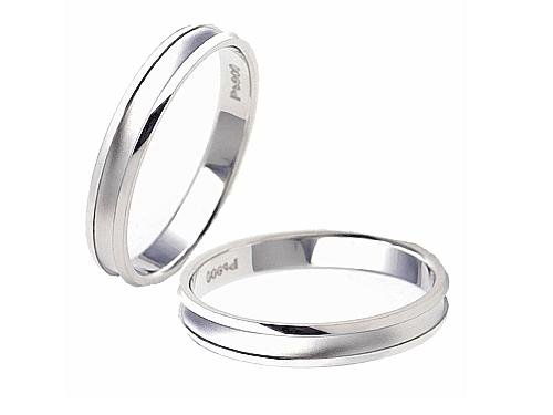 結婚指輪:エトワ PR05 Pt900  A:56,160円  B:64,800円  C:73,440円