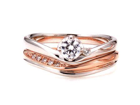 婚約指輪:ソナーレ 上:サラバンド(ER)  0.3枠 ¥101,520-  下:(MR)