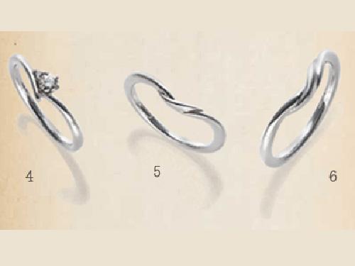 結婚指輪:SUCRE 4,  5,  6