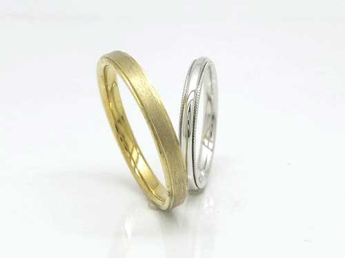32:結婚指輪フルール 福岡で安いK18 YG ¥78,192- WG ¥76,464-