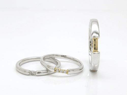 結婚指輪 プール トゥジュール O:左 15-13633(L) ¥81,000- 中 15-2072(L) ¥78,030- 右 15-2071(M) ¥100,980-