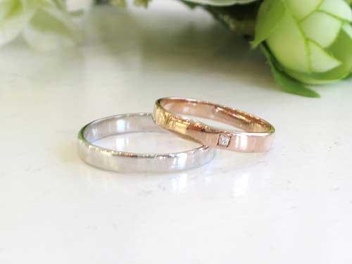 5:結婚指輪が福岡で安い ピンクキュート K18WG¥48,000- K18PG¥49,000-