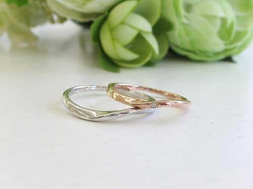 6:福岡で結婚指輪が安い ピンクキュート K18WG¥57,000- K18WPG¥58,000-