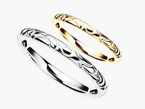 16:ロゼ 結婚指輪が福岡で安いPt900 ¥54,540- K18YG ¥53,460-