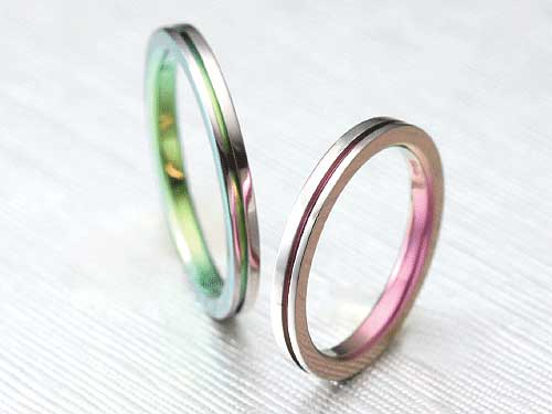 13:福岡で安い福岡の結婚指輪 アイリスTi No.1 ¥43,500-