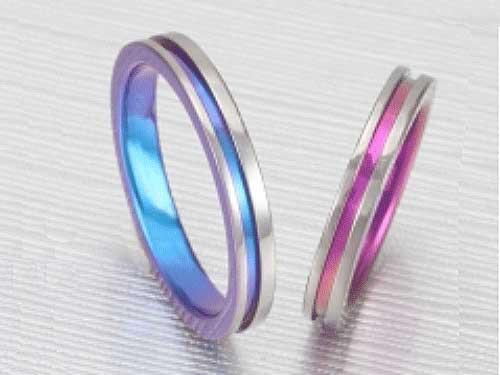14:福岡で安い福岡の結婚指輪 アイリスTi No.2 ¥46,000-