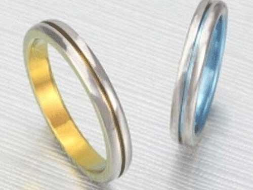 15: アイリスTi 福岡で安い福岡の結婚指輪 No.11 ¥55,250-