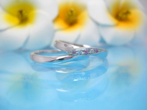 23:福岡で結婚指輪が安い ちゅらばな kanasa 左:¥61,668- 右:¥64,692-